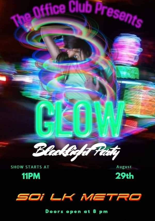 Black Light Party at The Office Club